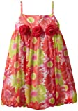 Bonnie Jean Girls 2-6X Floral Print Bubble Dress, Multi, 5
