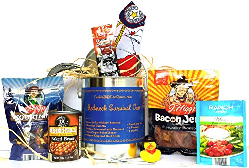 Redneck Survival Can With Texas Bandana Presented To You By Cookie Gift Can Queen