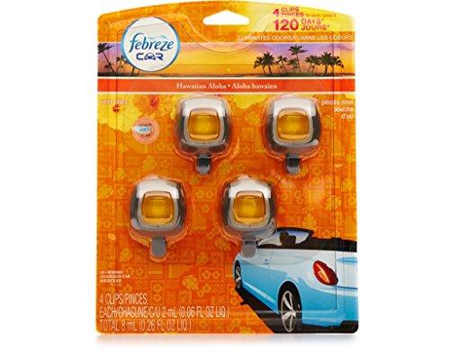 Febreze Car Clip Air Freshner 4 Pack Hawaiian Aloha Scent (Clip Air Freshener compare prices)