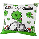"Sheepworld 42171 Baumwoll-Kissen ""Glück"""