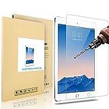 iVoler Apple iPad Air/iPad Air 2 専用強化ガラフィルム 9H硬度の液晶保護 0.3mm超薄型【国産ガラス素材】2.5D 耐指紋 撥油性 高透過率 ラウンドエッジ加工