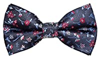 OCIA® Mens Jacquard Microfiber Designer Pre-tied Bow Tie
