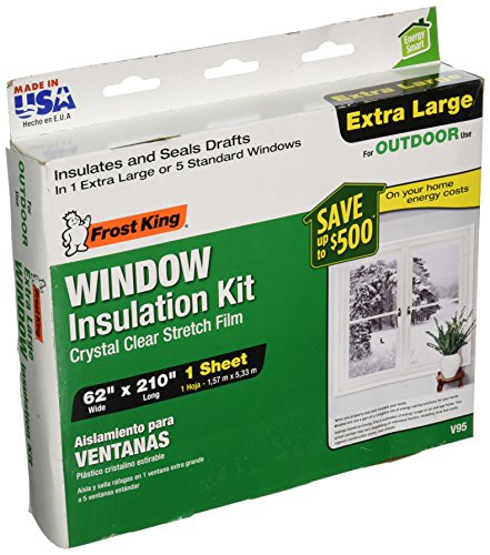 Frost King V95H Stretch Window Kit 62-Inch by 210-Inch (Window Insulation Kit Outdoor compare prices)