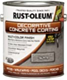 Rust-Oleum 266552 Decorative Concrete Coating Multi-Color Finish, 1-Gallon, Slate