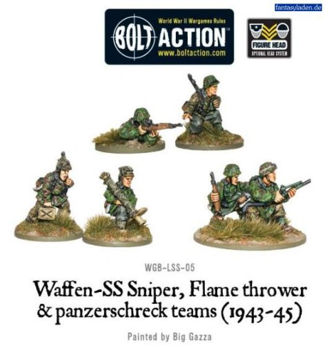 WGB-LSS-05 German Army: Waffen-SS Sniper, Flamethrower and Panzerschreck teams (1943-45)