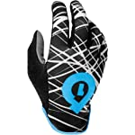 SixSixOne Rev Wired Adult Off-Road Cycling MTB Gloves - Black/Cyan / X-Small