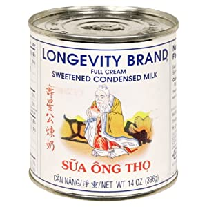 Longevity Sweetened Condensed Milk, 14-Ounce (Pack of 4)
