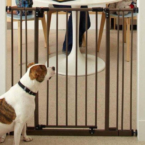 "North States 36"" Tall Easy-Close Pet Gate / Child Gate - Bronze   4993S"