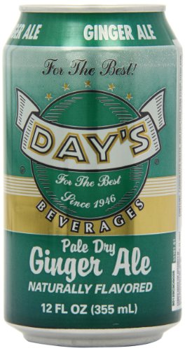 Day's Pale Dry Ginger Ale Cans 12 fl oz/355 ml (Pack of 6)