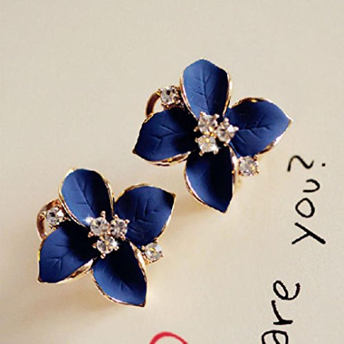 HuntGold 1Pair Flower Earring Fashion Women Ladies