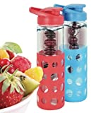 Modern Home Fruit-Infused Glass Water Bottle Set