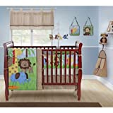 Zany Jungle 10 Piece Crib Bedding Set