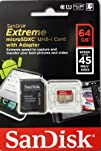 SanDisk Extreme 64 GB microSDXC Class 10 UHS-I Memory Card