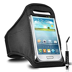 GBOS Lenovo Vibe K4 Note Adjustable Armband Gym Running Jogging Sports Case Cover Holder for Lenovo Vibe K4 Note With Mini Touch Stylus pen Black
