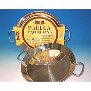 GUISON Stainless Steel Paella Valenciana 74036 14 in (36 cm)