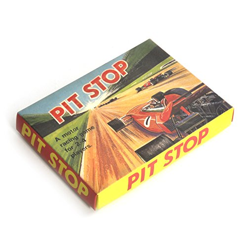 Traditional Retro Toys Vintage Pit Stop Motor Racing Board Game. Based on the 1970s classic game.