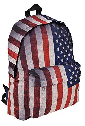 Zaino sportivo con bandiera americana a stelle e strisce