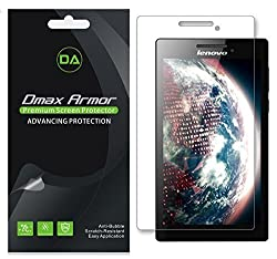 [3-Pack] Dmax Armor- Lenovo Tab 2 A7-10 Screen Protector, Anti-Bubble High Definition Clear Shield - Lifetime Replacements Warranty- Retail Packaging