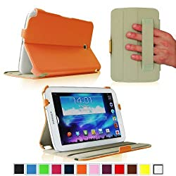 Fintie ClickBook Series Folio Hardback Case with Built-in Stand Auto Wake/Sleep for Samsung Galaxy Note 8.0 inch Tablet GT-N5100 / N5110 - Orange