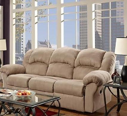 Ambrose Transitional Reclining Sofa