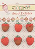 Sweet Delights Buttons-Strawberries
