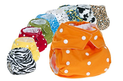 10 Reusable Cloth Nappy Pack