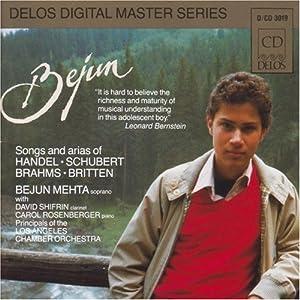【クリックでお店のこの商品のページへ】Bejun Mehta - Songs and arias of Handel, Schubert, Brahms, Britten [Import]