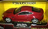 Welly Die Cast -Scale Model Collection With Pull Back & Go Action-Aston Martin V12 Vantage Red 1:38-New