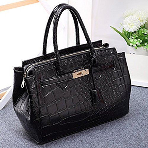 LadyHouse Fashion Classic Big Stone Grain Platinum Bag Portable Oblique Cross Package Shoulder Handbag
