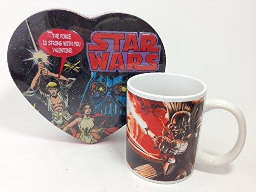 Star Wars Valentines Gift Set Darth Vader Mug and Tin Candy
