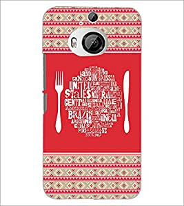 PrintDhaba Typography D-4149 Back Case Cover for HTC ONE M9 PLUS (Multi-Coloured)