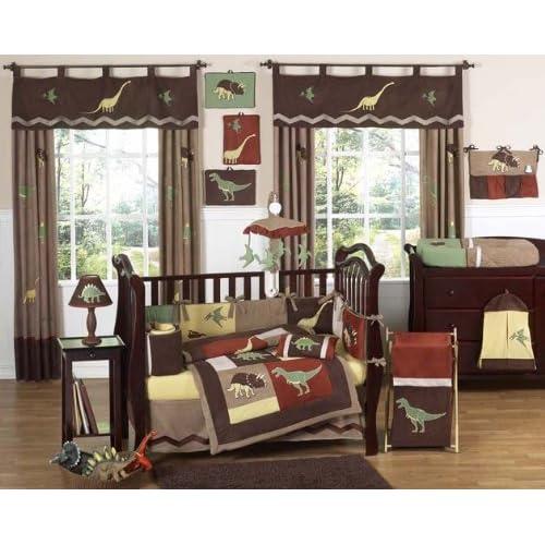 Dinosaur Baby Boy Dino Bedding 9 pc Crib Set by Sweet Jojo Designs