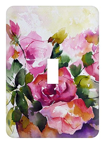 WaPlate - Floral Painting - Switch Plate Single Toggle (Floral Wall Switch Covers compare prices)