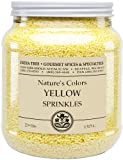 India Tree Sunflower Yellow Decorating Sugar, 3.3 lb