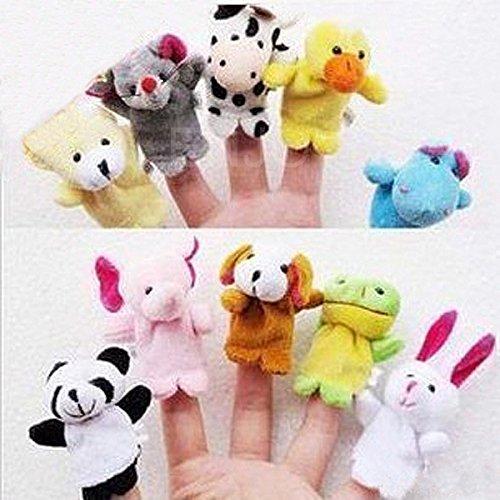 10pc-Animal-Finger-Puppet-Soft-Plush-BabyInfant-Educational-and-Development-Hand-Cartoon-Toys-US-Seller