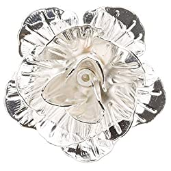 Sorellaz Silver Rose Metal Flower Lapel