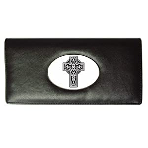 Long Wallet of Celtic Cross (Irish Jewelry, Pendant, Ring, Necklace)