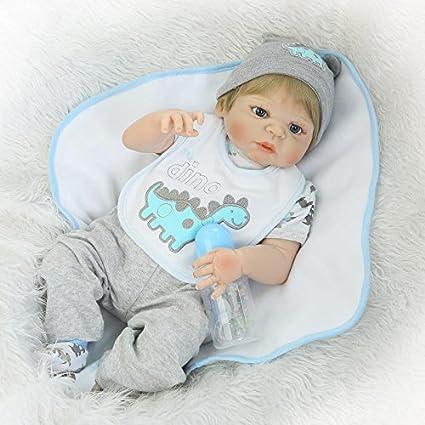 NPK 22inch 55CM reborn bébé dolls Garçon Poupées vinyl soft silicone réaliste baby Jouets magnétiques Cadeaux de Noël