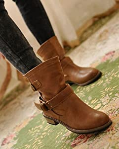 Buy Ladies Autumn Winter Fashion Knight Belt Buckle Women Short Boots Cool by Harshiono