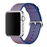 2016 Newest Apple Watch Band, Arbor Home MXY Fine Woven Nylon Strap Replacement Wrist Band Classic Bracelet Strap Bands for Apple iWatch 2016 (42MM-Royal Blue)
