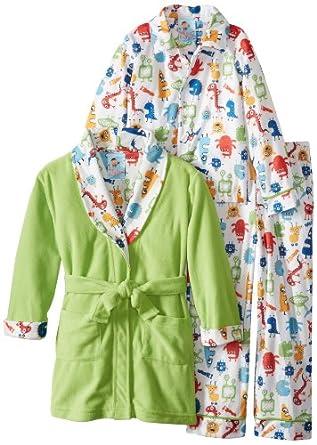 Baby Bunz Little Boys' Monster Mash Pajama Set, Green,4