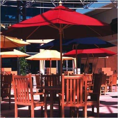 9' Round Single Pole Market Umbrella - Quick Ship Fabric: Sunbrella A Straw Linen