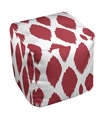 E by design FG-N15-Red-18 Geometric Pouf - 1