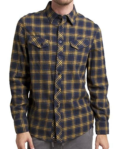 Micros Men's Pretender Long Sleeve Flannel Plaid Shirt with Flap Pockets