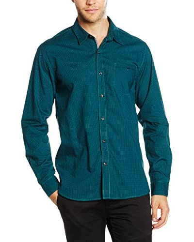 Timberland Camisa Hombre Ls Bear River Plaid Azul / Verde