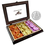 Chocholik Belgium Chocolate Gifts - Scintillating Assortment Of Rock Chocolates With 5gm Pure Silver Coin - Diwali...