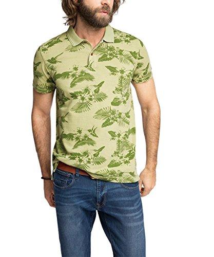 ESPRIT mit Print - Slim Fit-T-shirt  Uomo    Grün (LEAF GREEN 315) X-Large