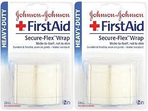 Johnson & Johnson FirstAid Wrap, Secure-Flex, Heavy-Duty