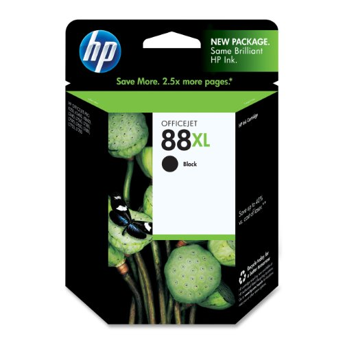 HP 88XL Black High Yield Original Ink Cartridge (C9396AN)