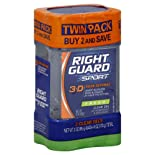 Right Guard Sport Antiperspirant & Deodorant, Clear Gel, Fresh, Twin Pack, 2 ct.